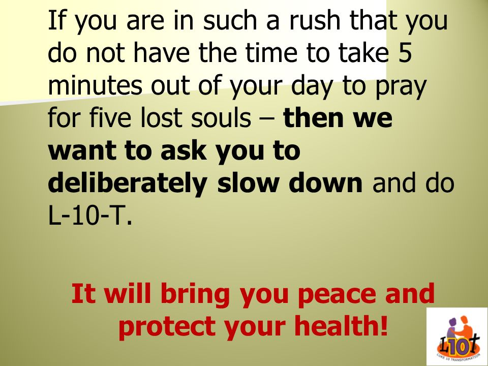 It will bring you peace and protect your health!