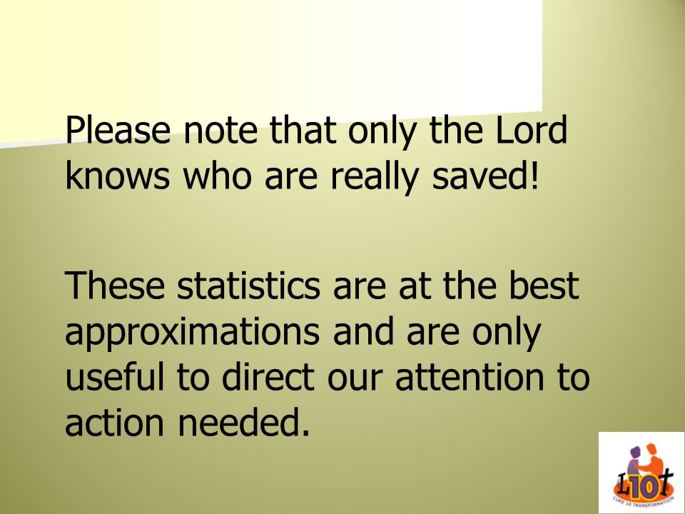 Please note that only the Lord knows who are really saved!