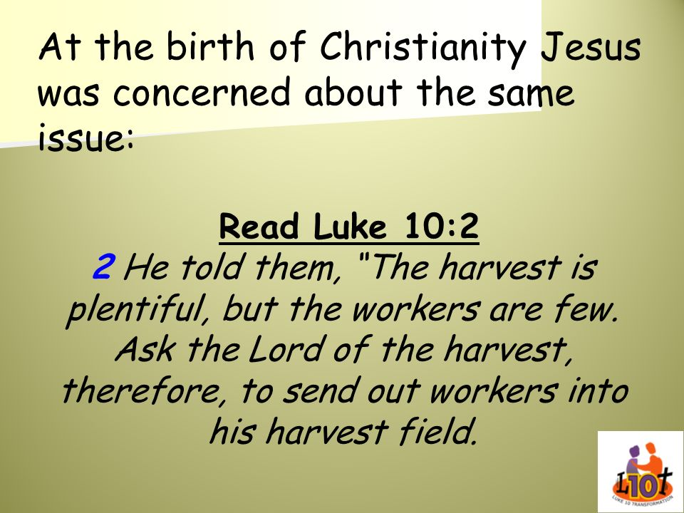 At the birth of Christianity Jesus was concerned about the same issue: