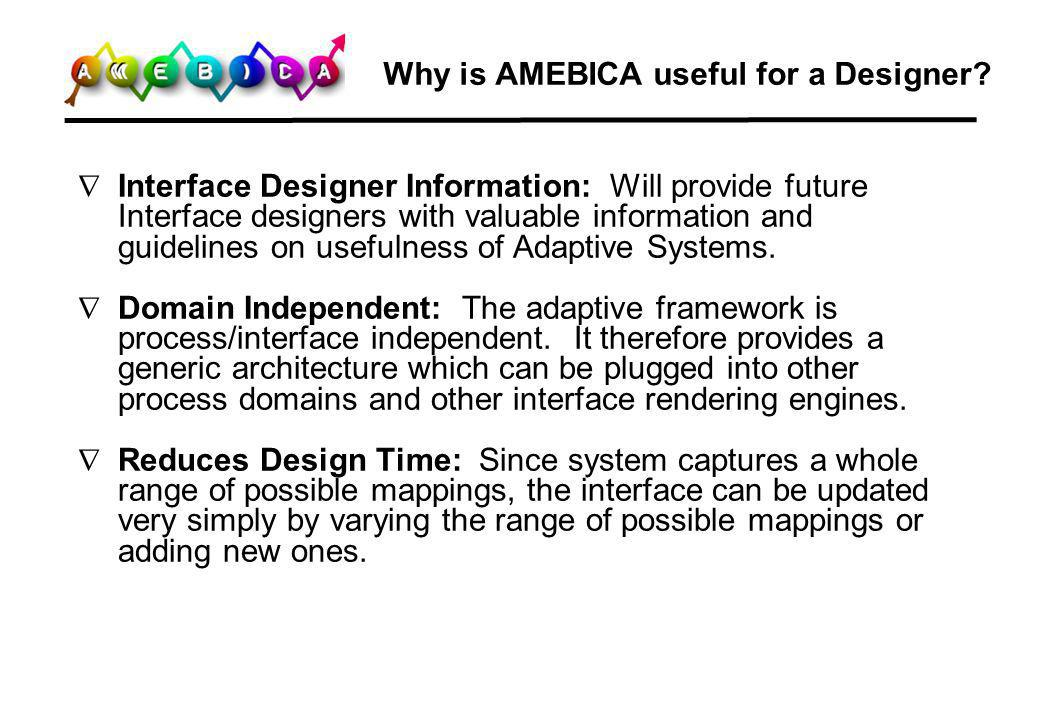 Why is AMEBICA useful for a Designer