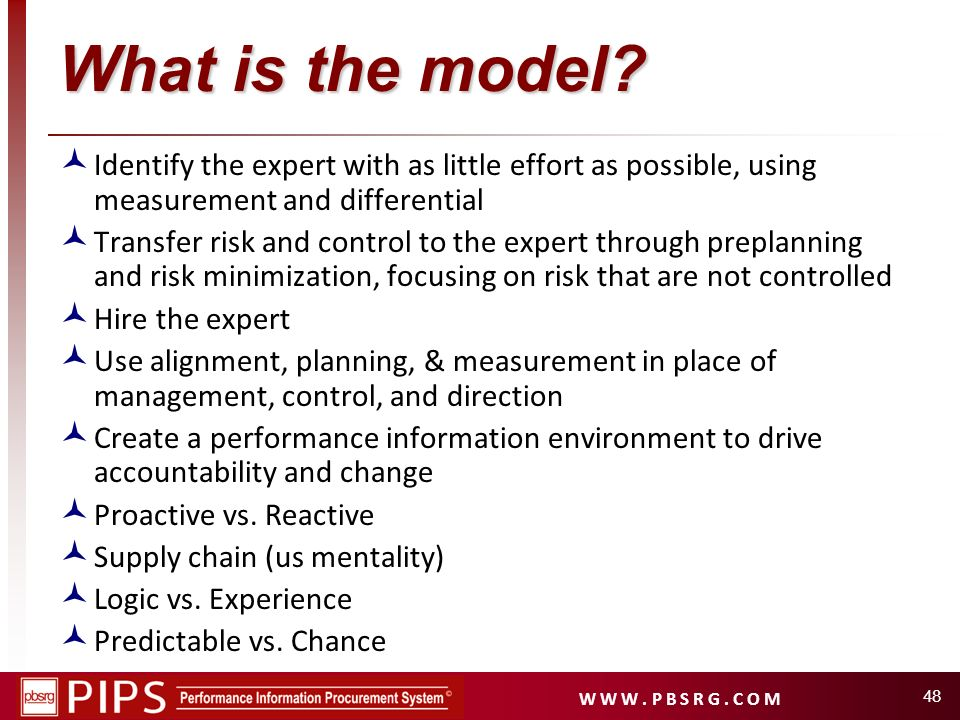 What is the model Identify the expert with as little effort as possible, using measurement and differential.