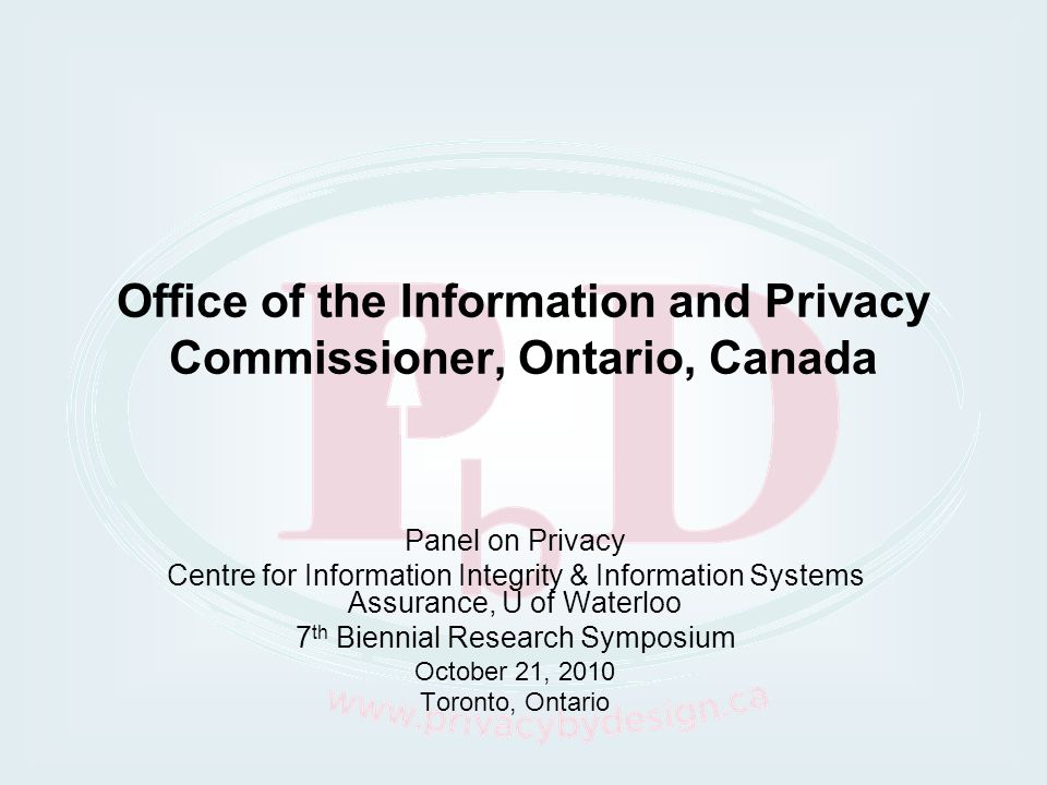 Office of the Information and Privacy Commissioner, Ontario, Canada