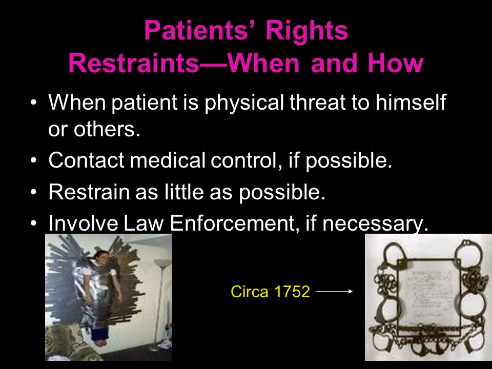 Patients' Rights Restraints—When and How