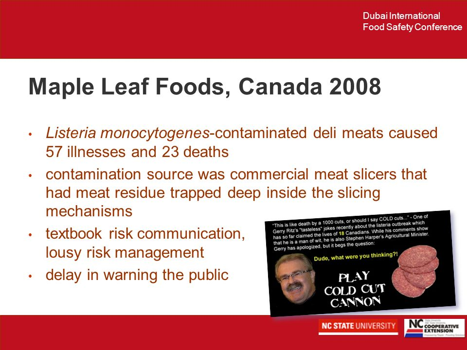 Maple Leaf Foods, Canada 2008