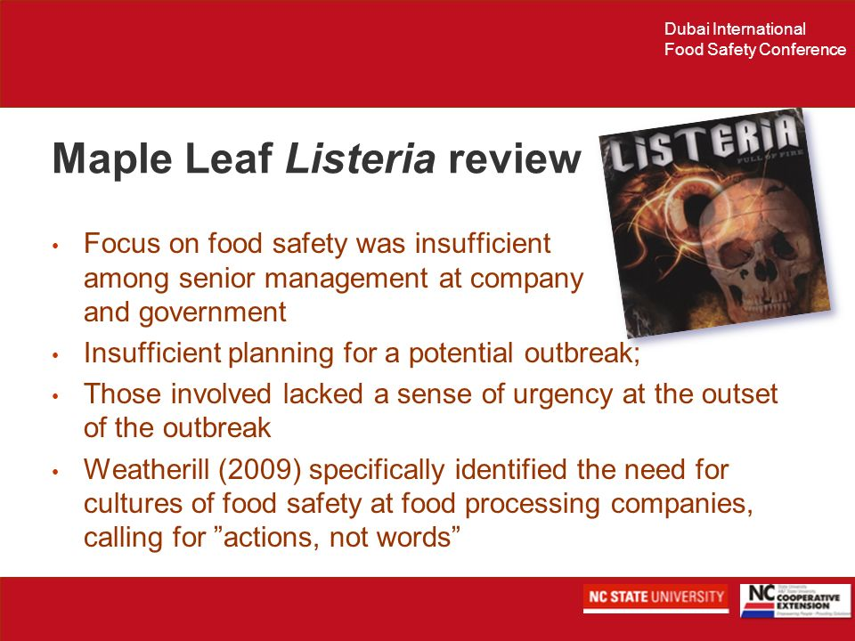 Maple Leaf Listeria review