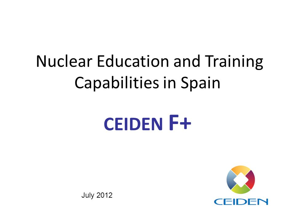 Nuclear Education and Training Capabilities in Spain