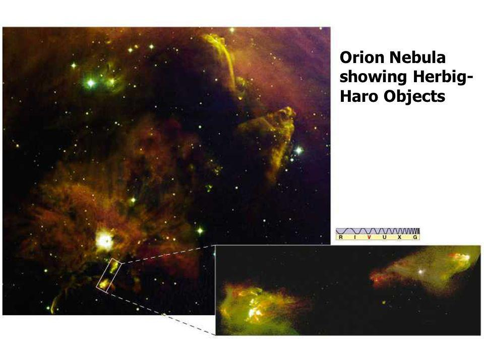 Orion Nebula showing Herbig-Haro Objects