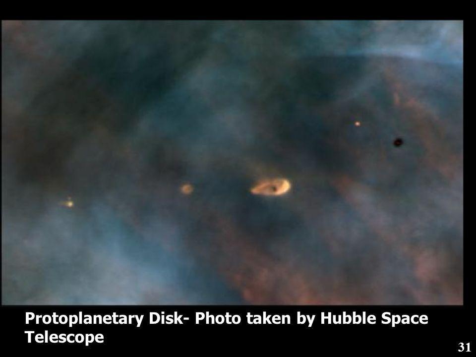 Protoplanetary Disk- Photo taken by Hubble Space Telescope