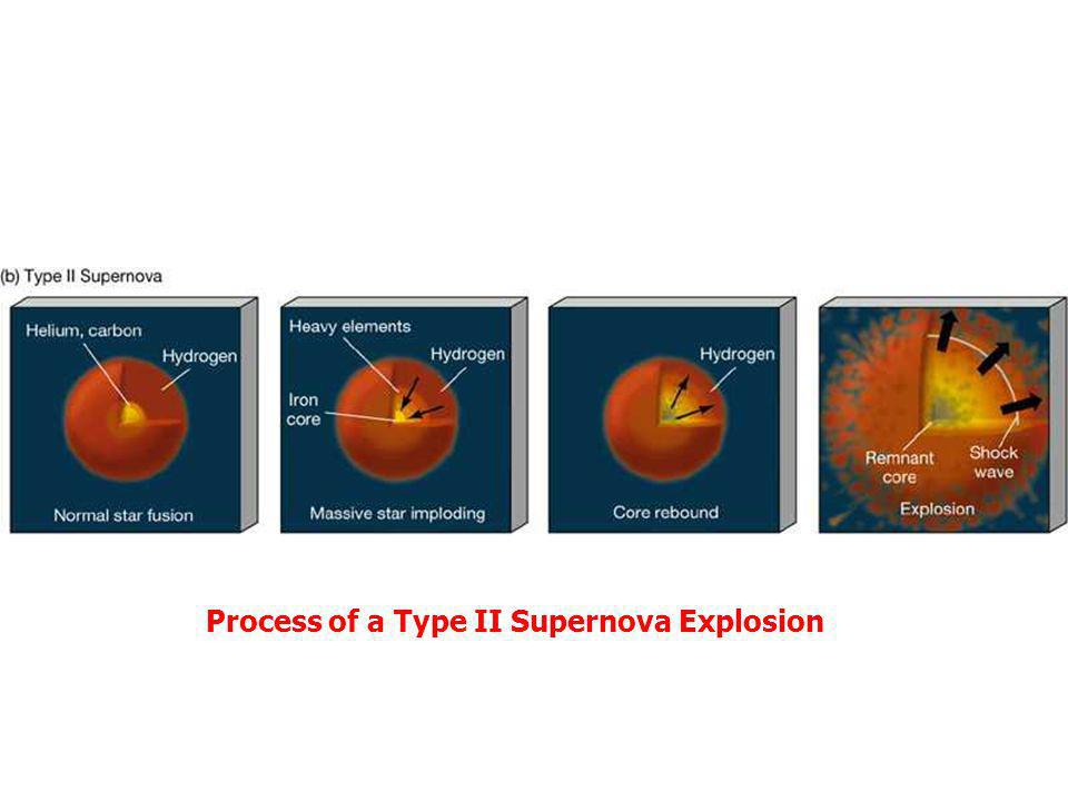 Process of a Type II Supernova Explosion