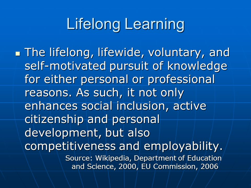 Lifelong Learning