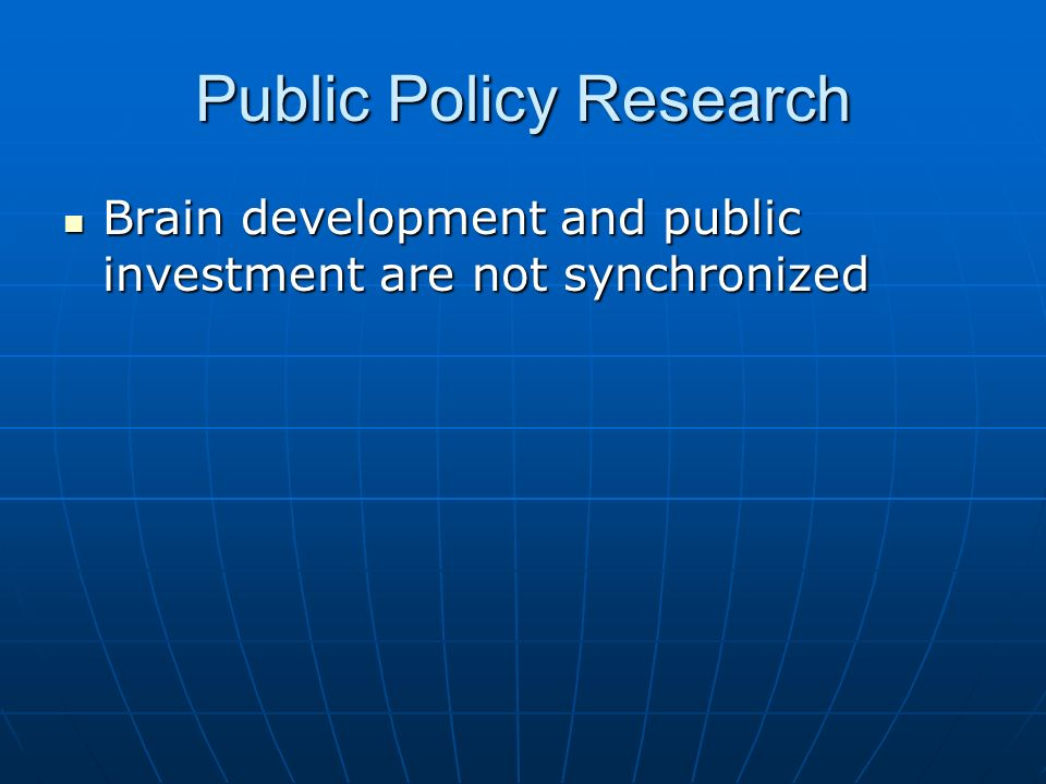 Public Policy Research
