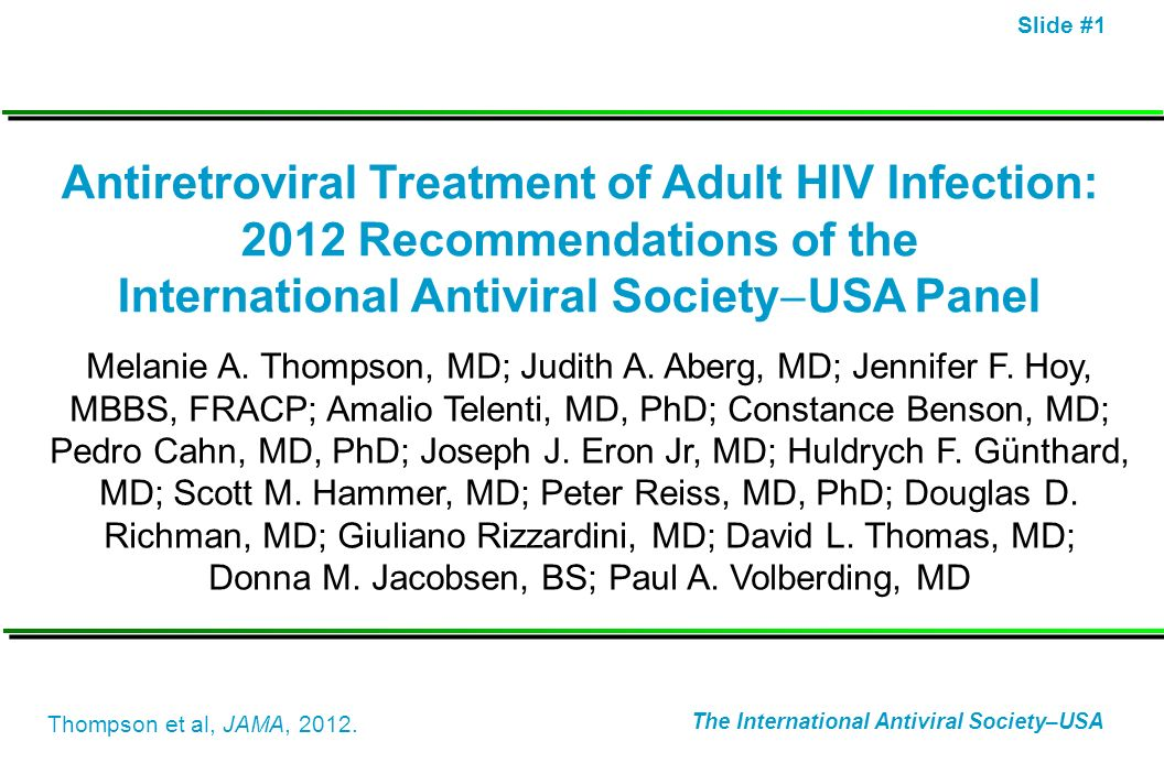 International Antiviral SocietyUSA Panel