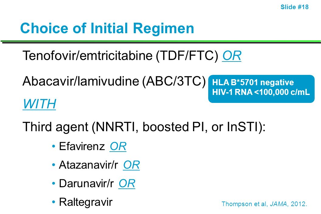 Choice of Initial Regimen