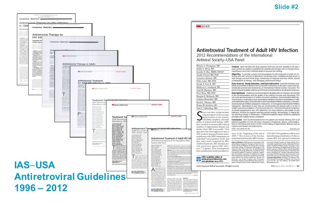 IASUSA Antiretroviral Guidelines 1996 – 2012