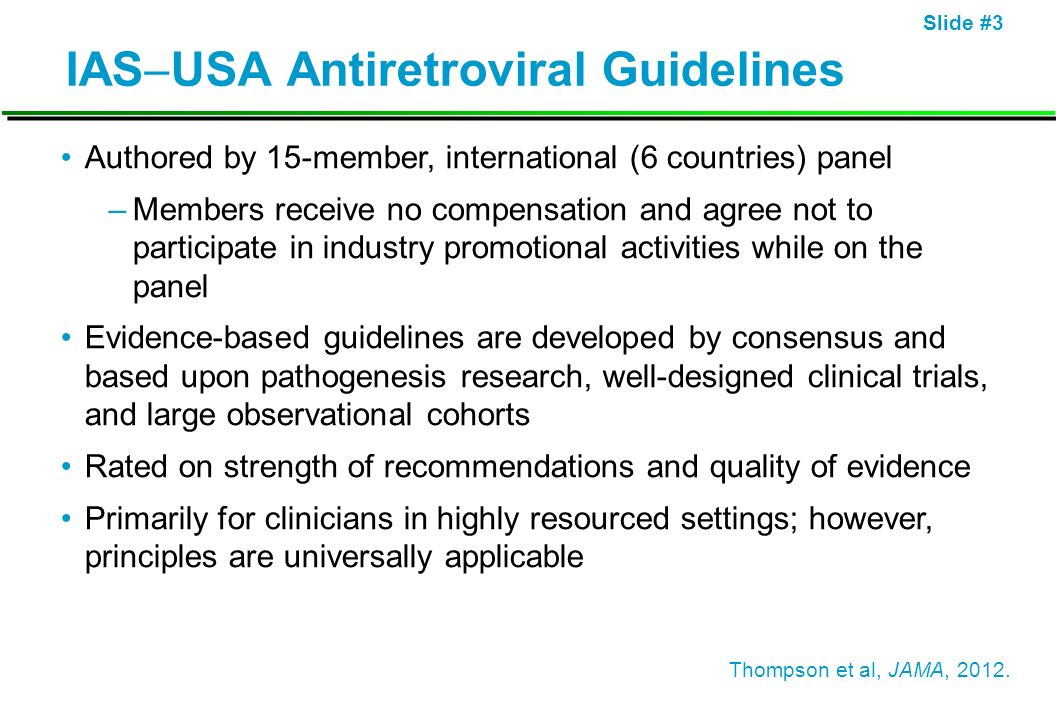 IASUSA Antiretroviral Guidelines