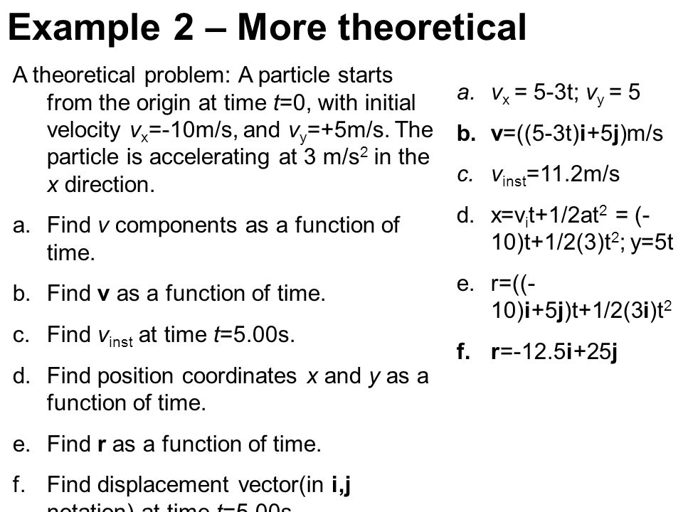 Example 2 – More theoretical