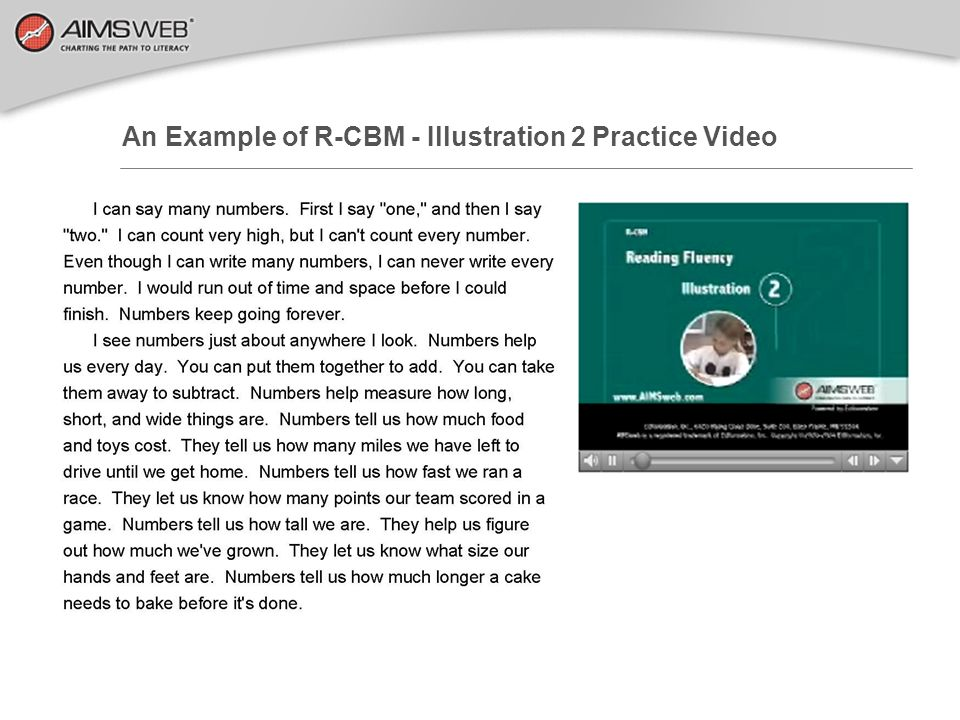 An Example of R-CBM - Illustration 2 Practice Video