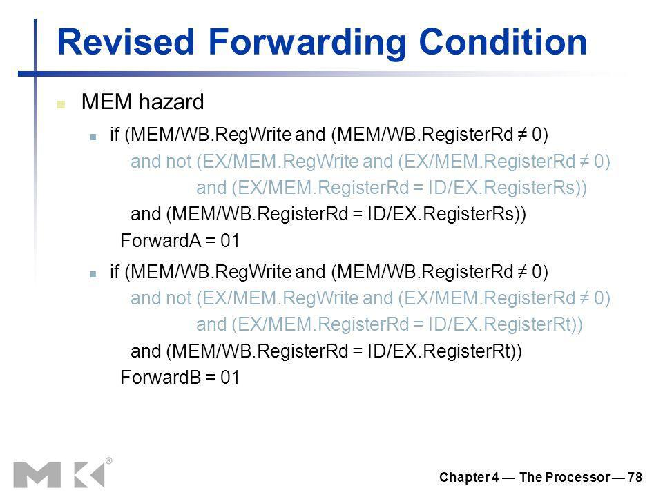 Revised Forwarding Condition
