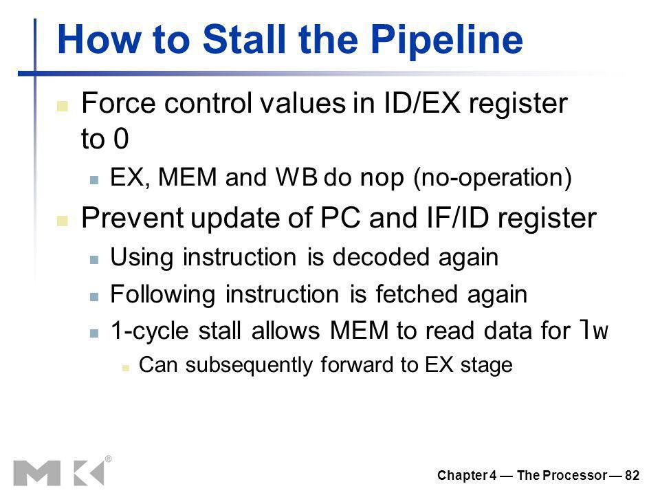 How to Stall the Pipeline