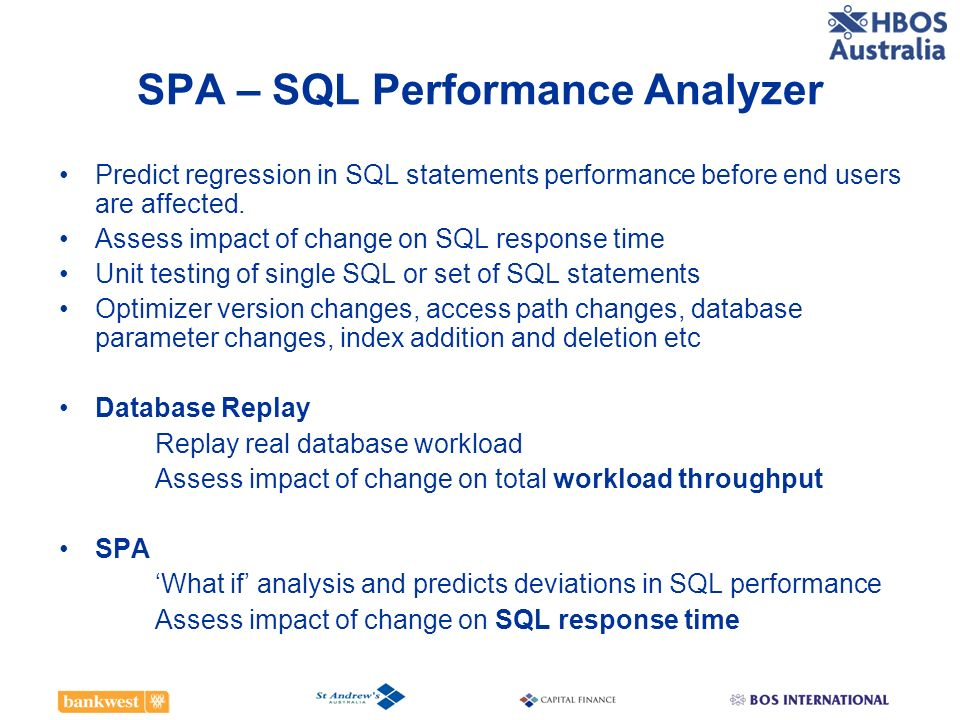 SPA – SQL Performance Analyzer