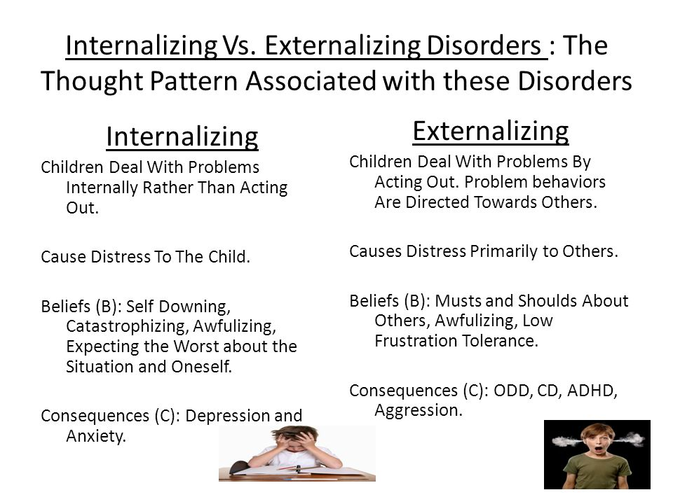 Internalizing Vs. Externalizing Disorders : The Thought Pattern Associated with these Disorders