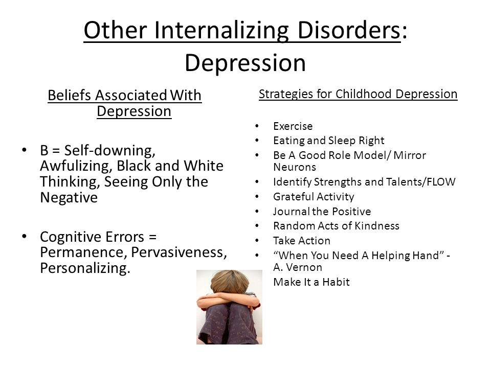 Other Internalizing Disorders: Depression