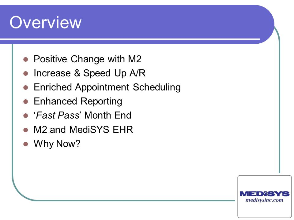 Overview Positive Change with M2 Increase & Speed Up A/R