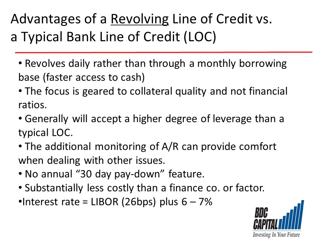 Advantages of a Revolving Line of Credit vs