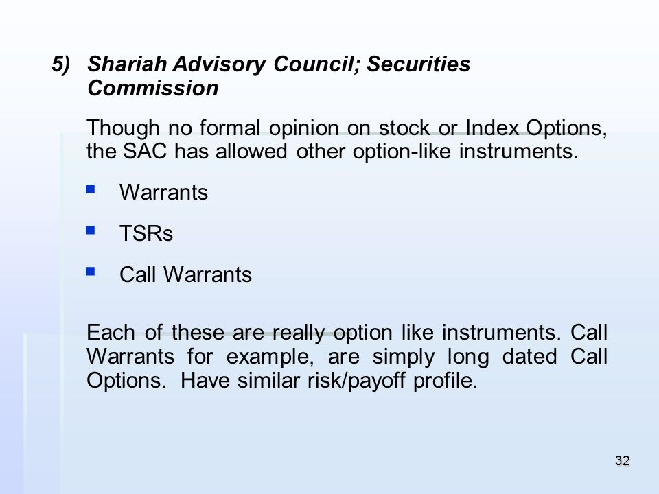 Shariah Advisory Council; Securities Commission
