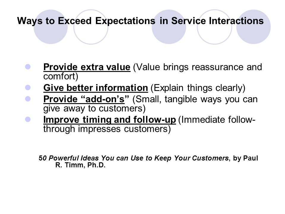 Ways to Exceed Expectations in Service Interactions