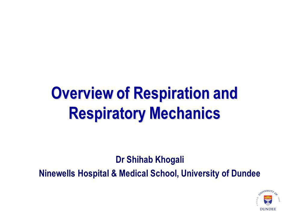 Overview of Respiration and Respiratory Mechanics