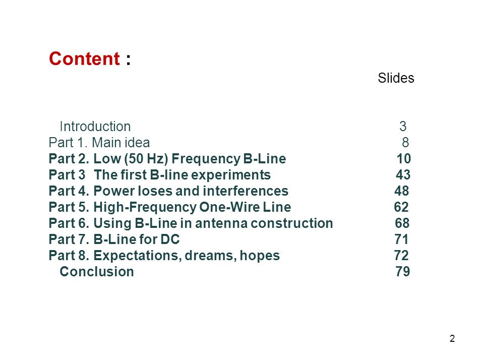 Content : Slides Introduction 3 Part 1. Main idea 8