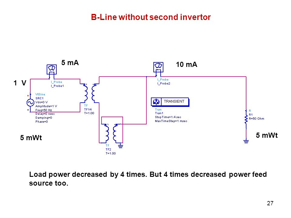 B-Line without second invertor