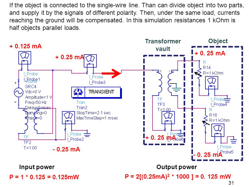 If the object is connected to the single-wire line