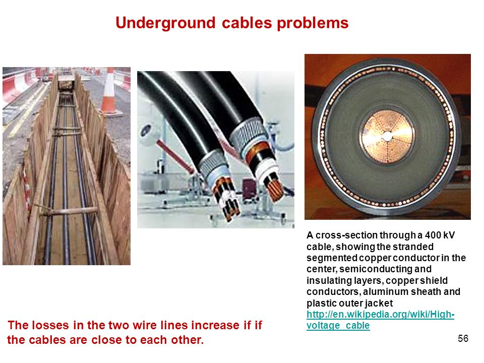 Underground cables problems