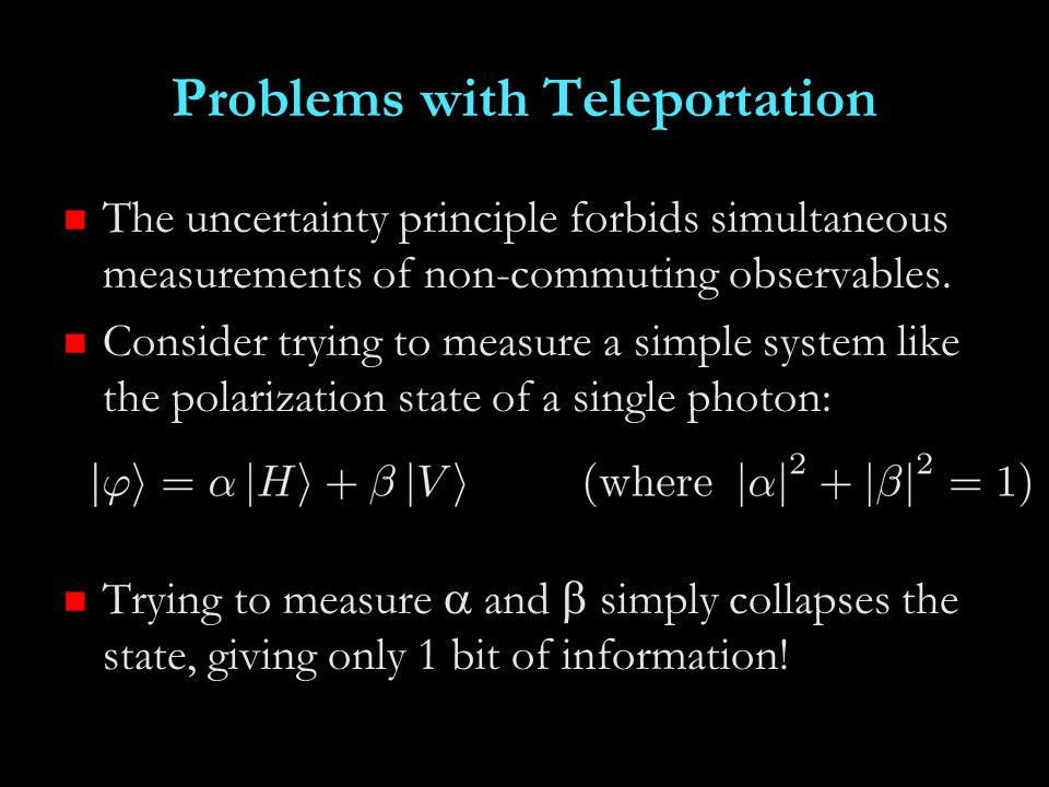 Problems with Teleportation