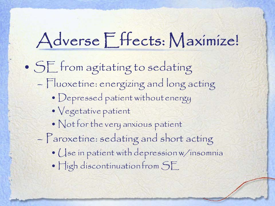 Adverse Effects: Maximize!