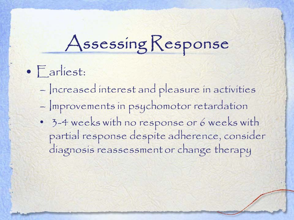 Assessing Response Earliest:
