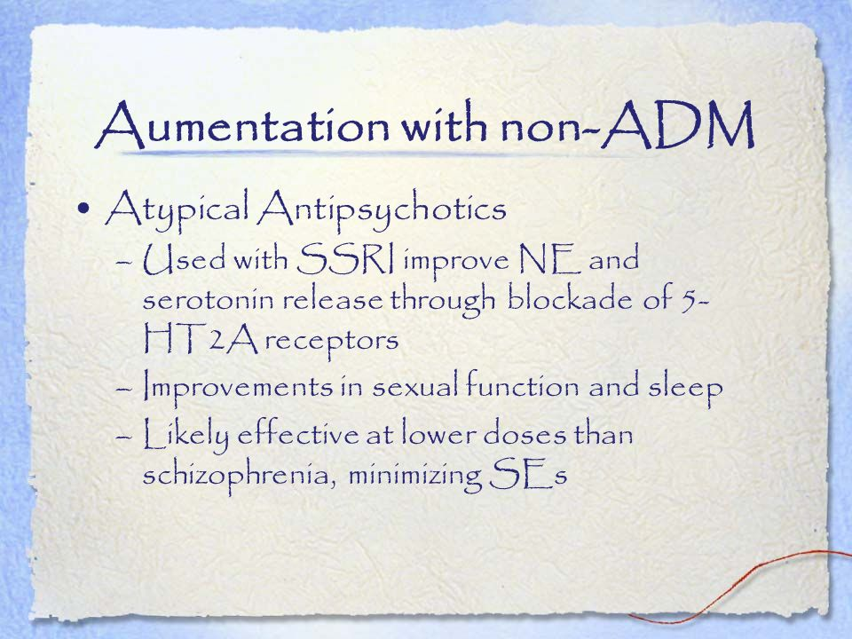 Aumentation with non-ADM