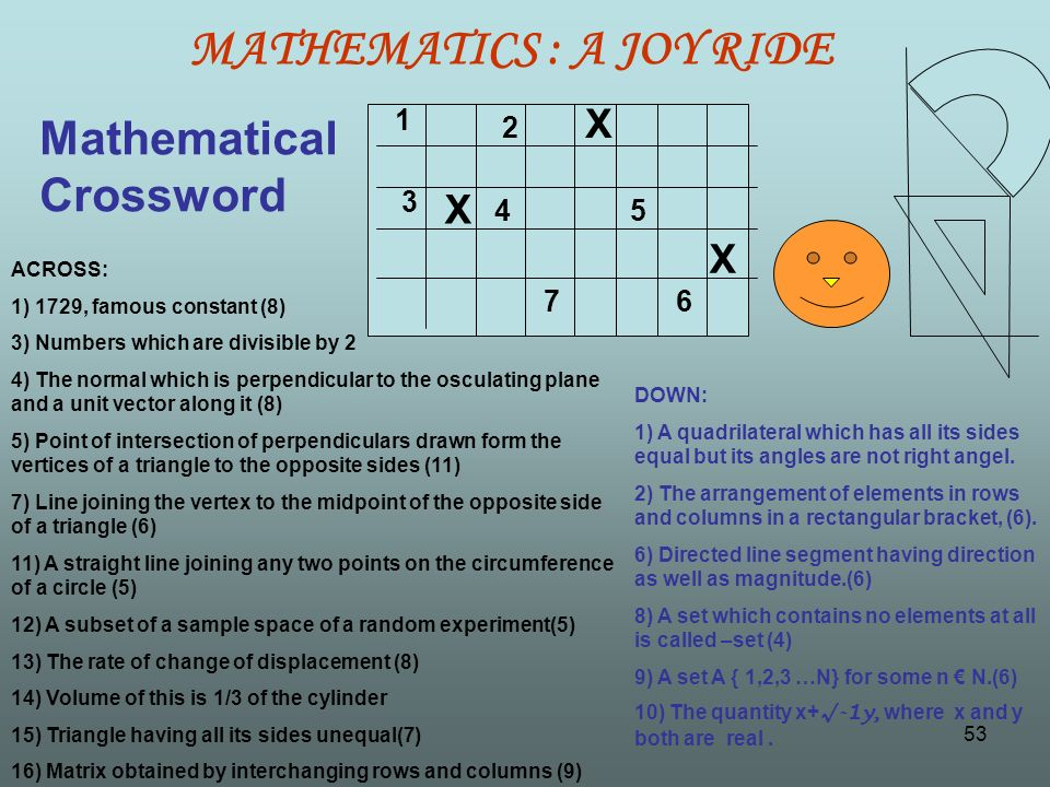 MATHEMATICS : A JOY RIDE - ppt video online download