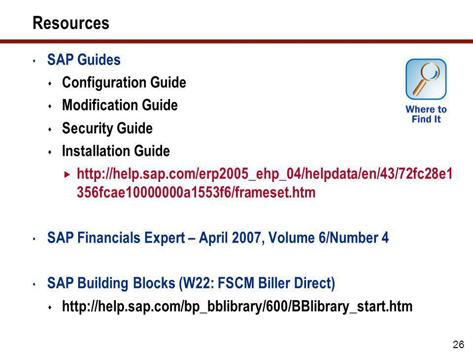 Resources SAP Guides Configuration Guide Modification Guide