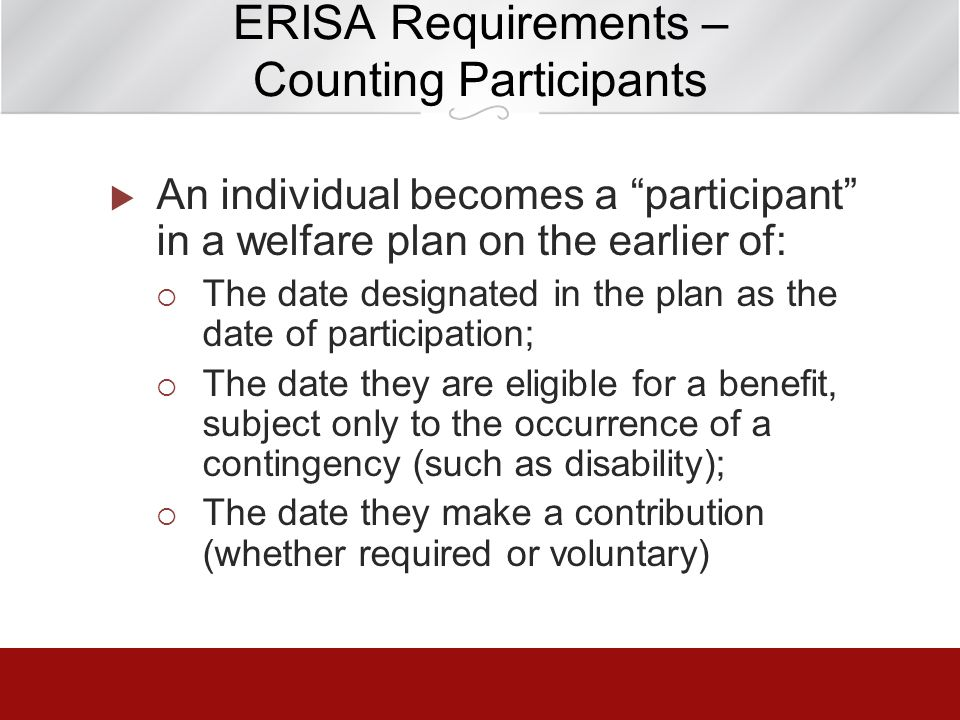 ERISA Requirements – Counting Participants