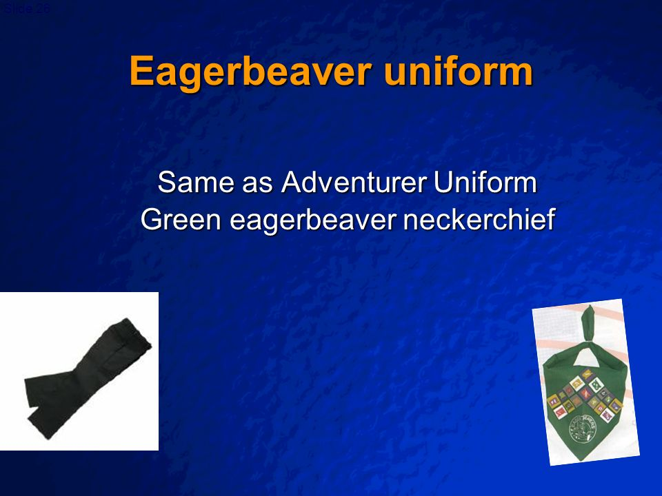 Same as Adventurer Uniform Green eagerbeaver neckerchief