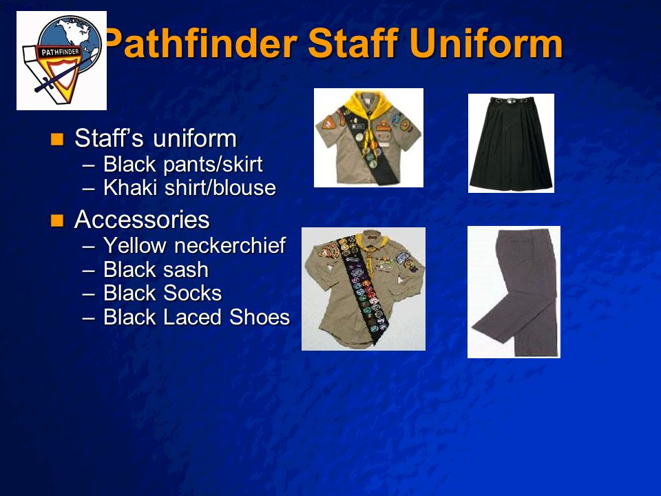 Pathfinder Staff Uniform