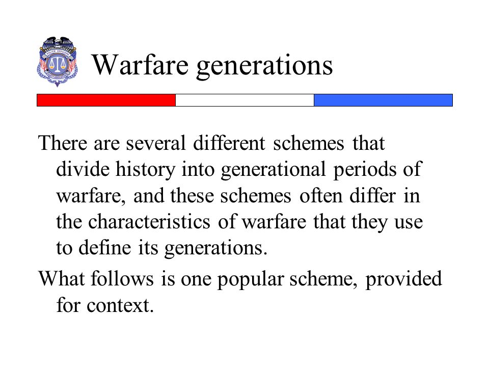 Warfare generations