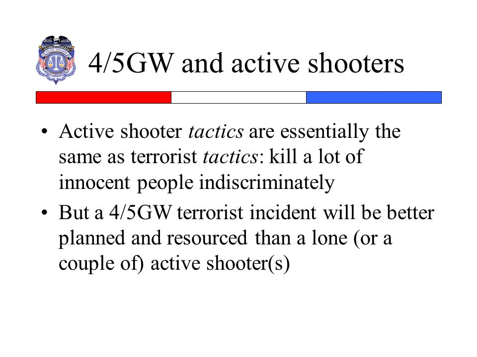 4/5GW and active shooters