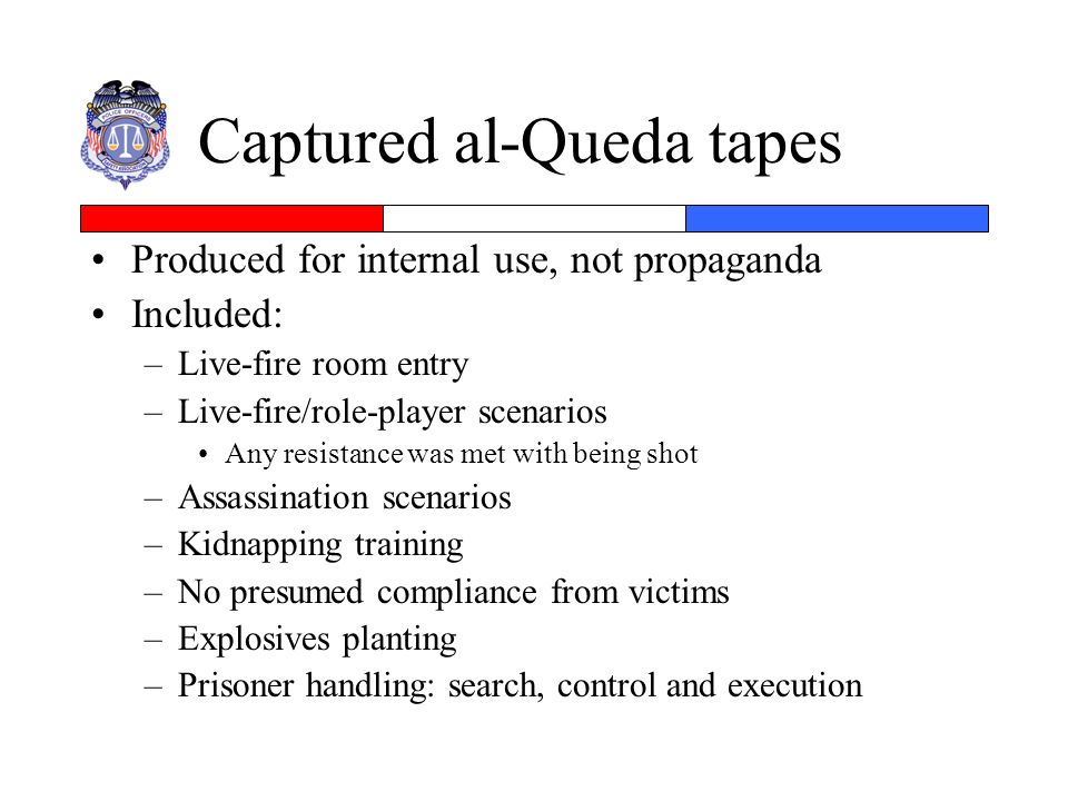 Captured al-Queda tapes