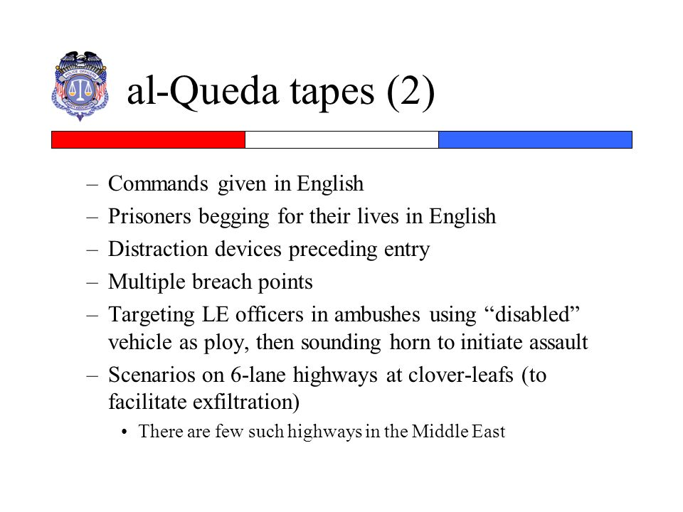 al-Queda tapes (2) Commands given in English