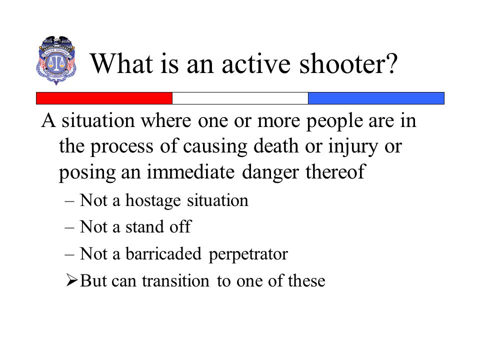 What is an active shooter