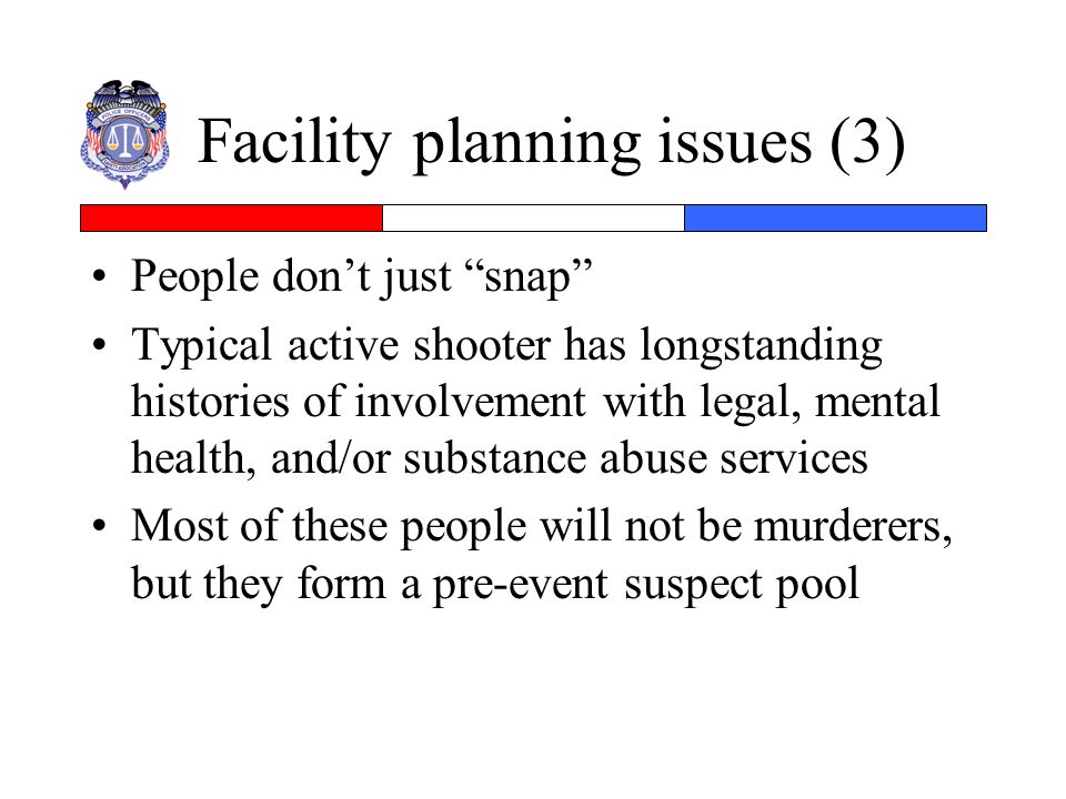 Facility planning issues (3)
